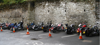 VIP parking at the Bedford Hotel in Tavistock